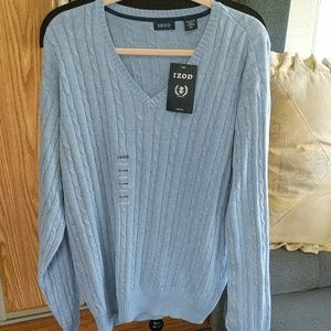 Izod pullover blue v-neck sweater XXL